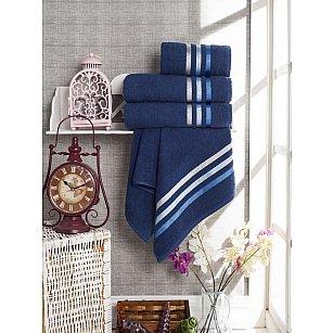 Комплект из 4-х махровых полотенец Vevien Ekonomik (50*90; 70*140), синий