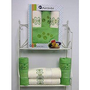 Комплект из 4-х махровых полотенец Geo в коробке (50*90; 70*140), светло-зеленый
