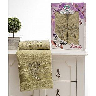Комплект из 2-х полотенец Butterfly в коробке (50*90; 70*140), зеленый