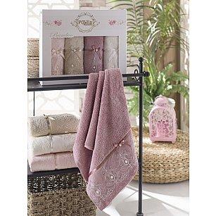 Комплект полотенец Бамбук с гипюром Inci в коробке, 50*90 см - 4 шт
