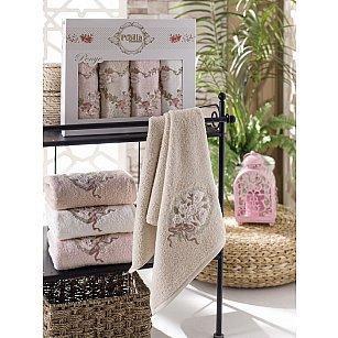 Комплект полотенец Бамбук 3D Miranda в коробке, 50*90 см - 4 шт