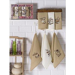 Комплект вафельных салфеток Meteor Торшон в коробке, 30*50 см - 6 шт