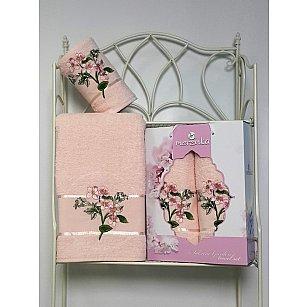Комплект из 2-х полотенец Merzuka Sakura Garden в коробке (50*80; 70*130), пудра