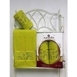 Комплект из 2-х полотенец Merzuka Prestij в коробке (50*90; 70*140), светло-зеленый