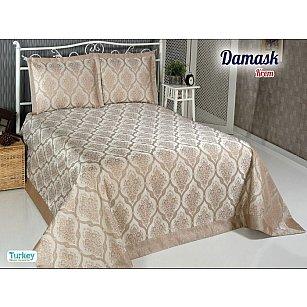 Покрывало DO&CO Damask, бежевый, 240*260 см