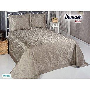 Покрывало DO&CO Damask, коричневый, 240*260 см