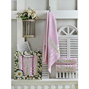 Комплект из 3-х полотенец Juanna Papatya в коробке (50*90; 70*140), розовый