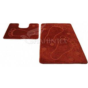 Набор ковриков Shahintex PP, кирпичный 51