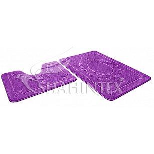 Набор ковриков Shahintex ЭКО (60*90+60*50), фиолетовый 61