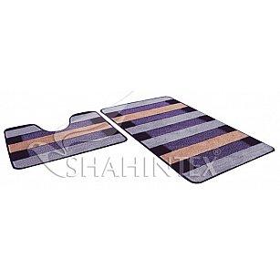 Набор ковриков Shahintex PP MIX LUX (60*100+60*50), фиолетовый 61