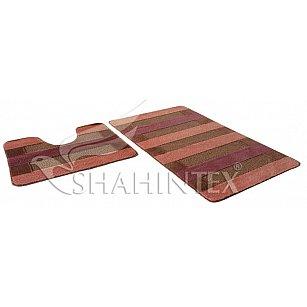 Набор ковриков Shahintex PP MIX LUX (60*100+60*50), кирпичный 51