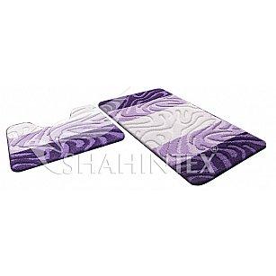 Набор ковриков Shahintex PP MIX 4K, фиолетовый 61