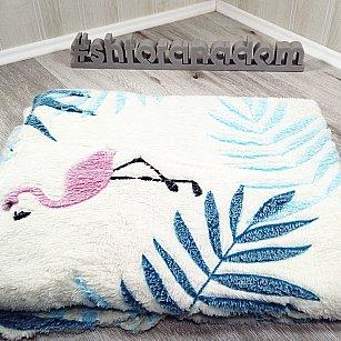 Плед Бамбук Фламинго, белый, 180*200 см