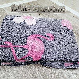 Плед Бамбук Фламинго, серый, 180*200 см