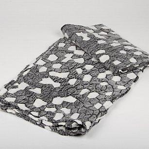 Плед Бамбук Камушки, серый, 180*200 см