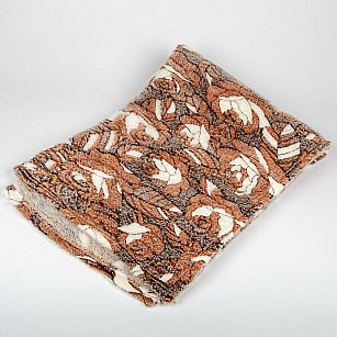 Плед Бамбук Роза, коричневый, 180*200 см