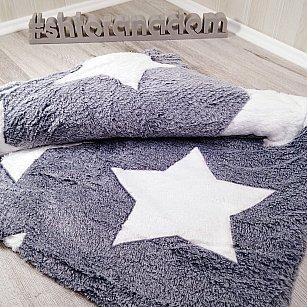 Плед Бамбук Звезды, серый, 180*200 см