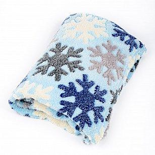 Плед Бамбук, Снежинки на голубом, 180*200 см
