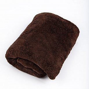 """Плед """"Короткий мех"""", шоколадный, 200*220 см"""