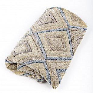 Плед Бамбук, Геометрия синий, 180*200 см