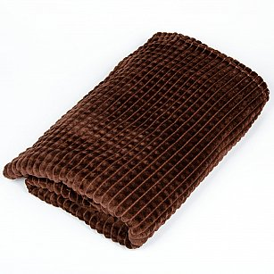 Плед Фланель, Классика, шоколадный, 200*220 см