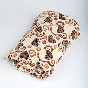 Плед Бамбук, Сердца в орнаменте, 180*200 см