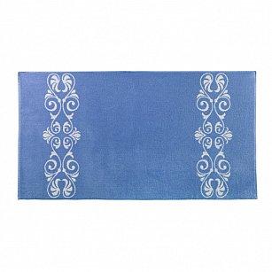 """Полотенце """"Aquarelle Шарлиз"""", белый, спокойный синий"""