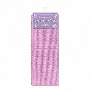 """Полотенце вафельное """"Солнечный дом"""", розовый, 40*70 см"""