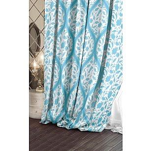 Шторы Версаль Блэкаут Candy, белый, голубой