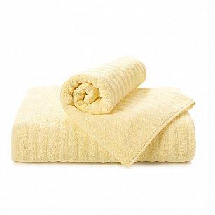 "Полотенце ""Aquarelle Волна"", светло-желтый"
