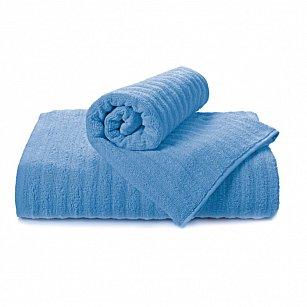 """Полотенце """"Aquarelle Волна"""", спокойный синий, 50*90 см"""