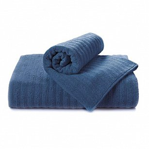 """Полотенце """"Aquarelle Волна"""", темно-синий, 50*90 см"""