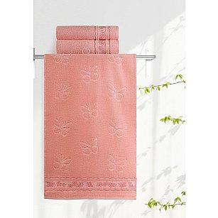 "Полотенце ""Aquarelle Бабочки"", розово-персиковый"