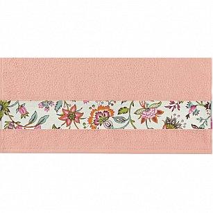 """Полотенце """"Aquarelle Фотобордюр цветы-2"""", розово-персиковый"""
