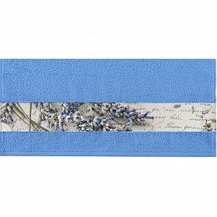 """Полотенце """"Aquarelle Фотобордюр письмо"""", спокойный синий"""