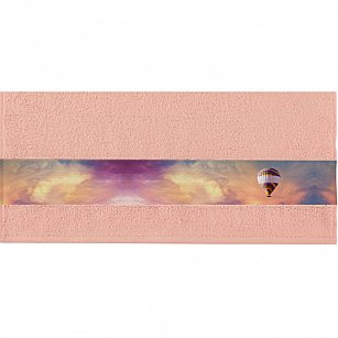 """Полотенце """"Aquarelle Фотобордюр путешествия"""", розово-персиковый, 50*90 см"""