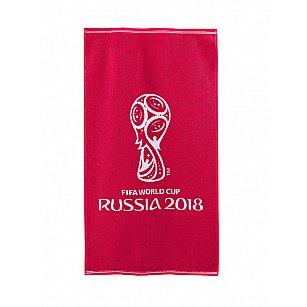 """Полотенце махровое """"FIFA Кубок"""", красный, 50*90 см-A"""