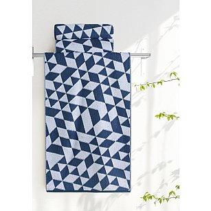 "Полотенце ""Aquarelle Орион-3"", белый и темно-синий"