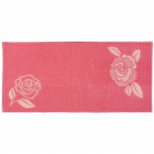 """Полотенце """"Aquarelle Розы-1"""", розово-персиковый, коралл"""
