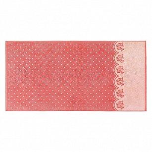 """Полотенце """"Aquarelle Розы-3"""", розово-персиковый, коралл"""