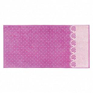 """Полотенце """"Aquarelle Розы-3"""", нежно-розовый, орхидея, 70*140 см"""