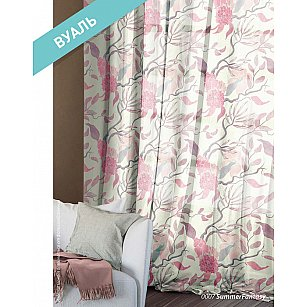 Комплект штор Этно Вуаль Summer Fantasy, розовый