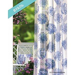 Комплект штор Прованс Вуаль Summer Garden, белый, синий