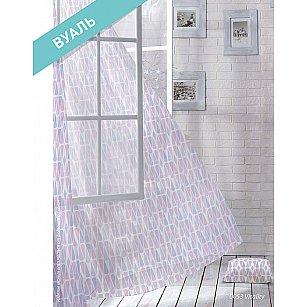 Комплект штор Лофт Вуаль Vitality, розовый, голубой