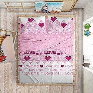 """КПБ LOVE ME """"Love Me"""", розовый"""