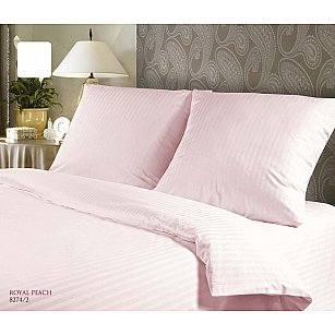 "КПБ Verossa Stripe Constante ""ROYAL PEACH"", розовый"