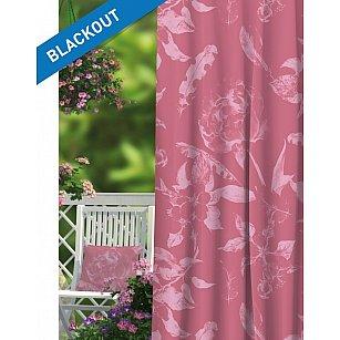 Шторы ПРОВАНС Блэкаут Rose, розовый, 270 см