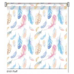 """Рулонная штора ролло """"Fluff"""", дизайн 0101"""