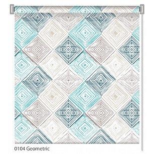 """Рулонная штора ролло """"Geometric"""", дизайн 0104"""
