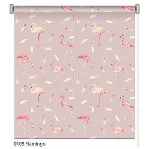 """Рулонная штора ролло """"Flamingo"""", дизайн 0105"""